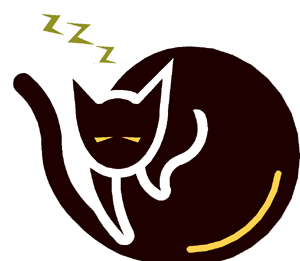 Art: This page's mascot: A happy, sleeping cat